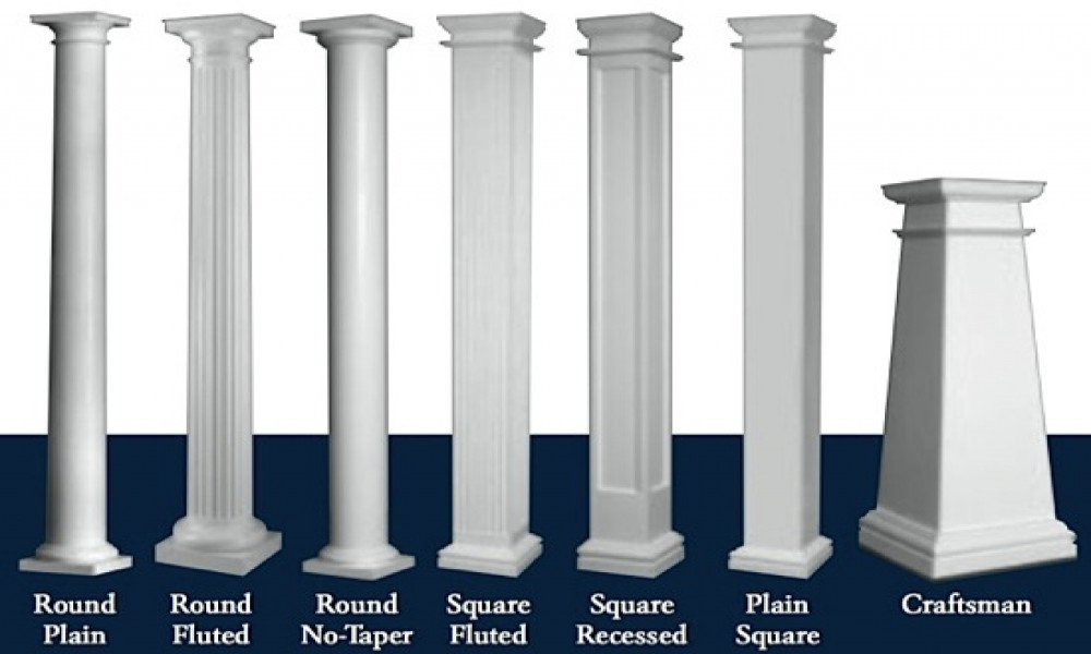 Decorative exterior support columns decks com brick or for Decorative support columns